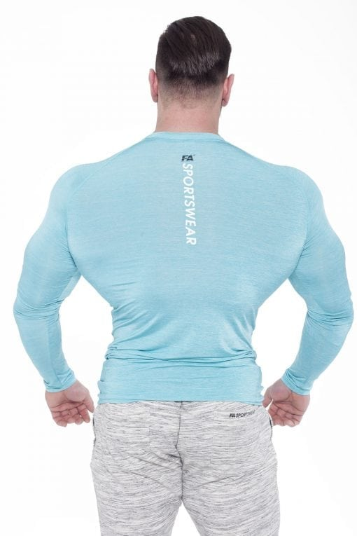 Fitness Longsleeve Heren Blauw - Fitness Authority-2