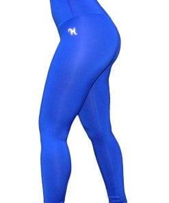 High Waist Sportlegging Dames Blauw – Mfit-1