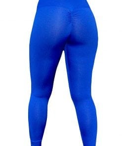 High Waist Sportlegging Dames Blauw – Mfit-3