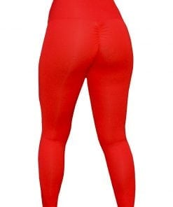 High Waist Sportlegging Dames Rood – Mfit-3