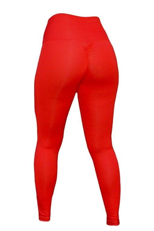 High Waist Sportlegging Dames Rood – Mfit-3