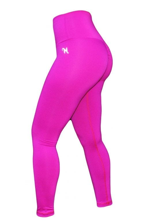 High Waist Sportlegging Dames Roze – Mfit-1