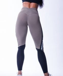 High Waist Sportlegging Mesh Mokka Nebbia 601 6 2