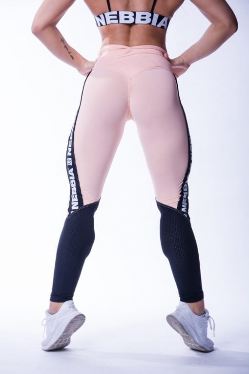 High Waist Sportlegging Mesh Zalm Nebbia 601 2 2
