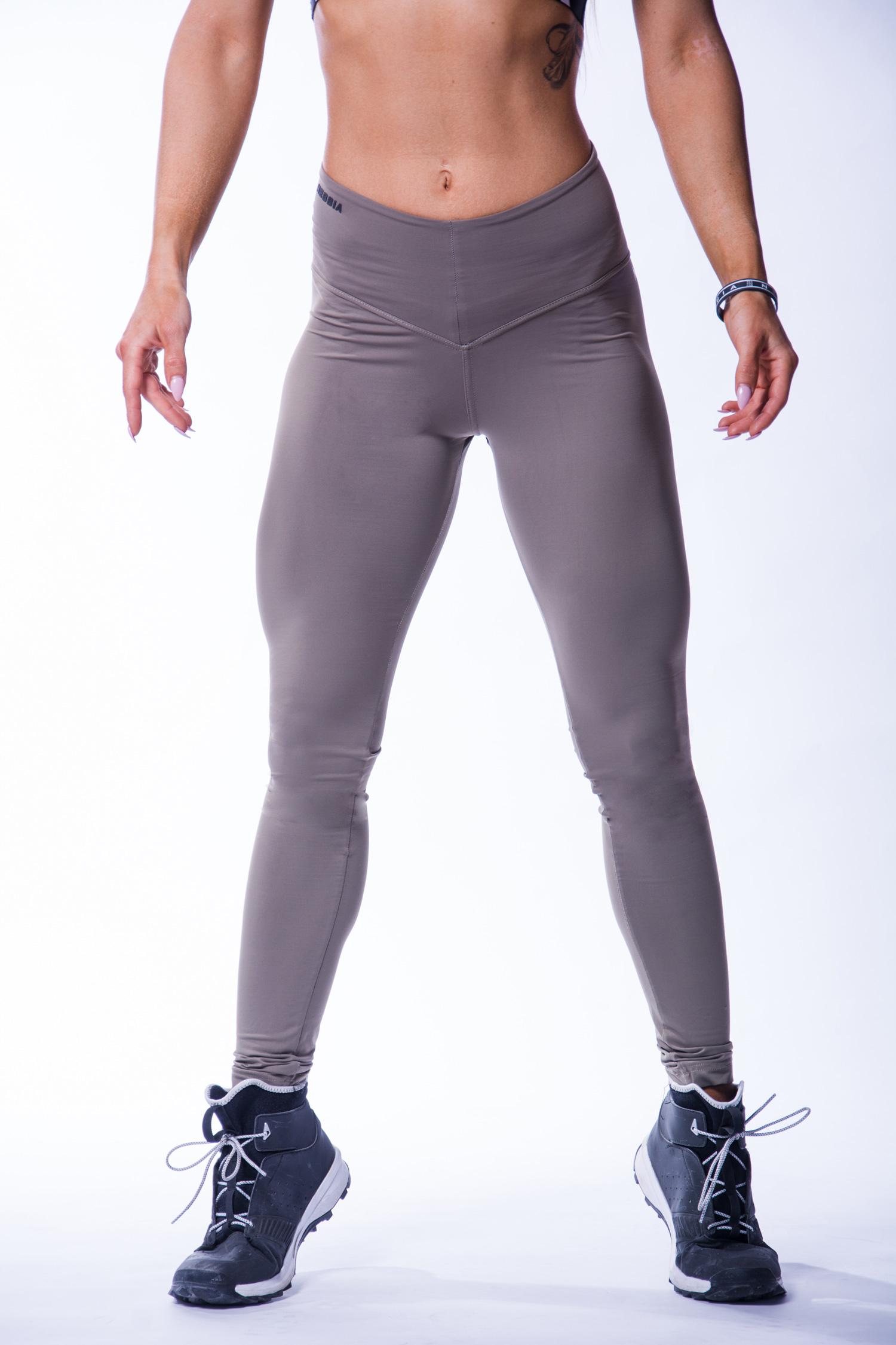 Beste Sportlegging.High Waist Sportlegging Dames Scrunch Butt Mokka Nebbia 604
