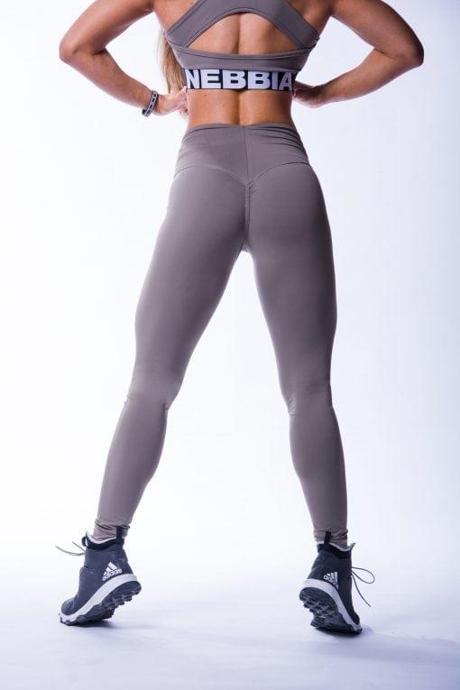 High waist Sportlegging Scrunch Butt Mokka nebbia 604 8