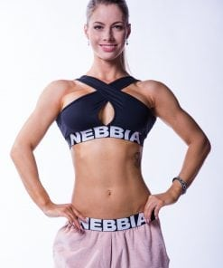 Sporttop Dames Zwart Crossed Nebbia 622 1