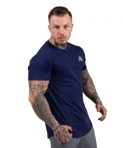 bodybuilding-t-shirt-mannen-blauw-gorilla-wear-detroit-4
