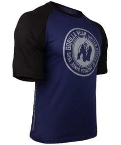 Bodybuilding Shirt Heren Blauw:Zwart - Gorilla Wear Texas-1