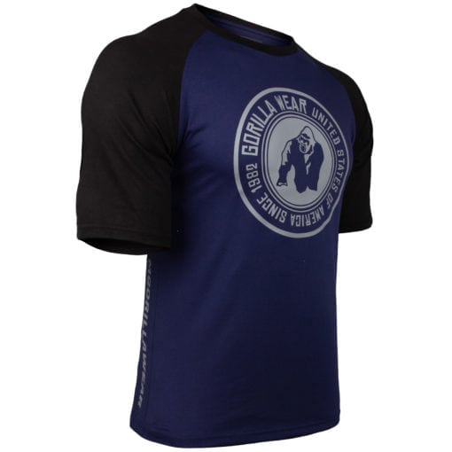 Bodybuilding Shirt Heren Blauw:Zwart - Gorilla Wear Texas-1