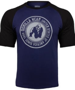 Bodybuilding Shirt Heren Blauw:Zwart - Gorilla Wear Texas-2