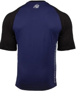 Bodybuilding Shirt Heren Blauw:Zwart - Gorilla Wear Texas-3