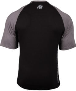 Bodybuilding Shirt Heren Zwart:Donkergrijs - Gorilla Wear Texas-1