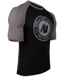 Bodybuilding Shirt Heren Zwart:Donkergrijs - Gorilla Wear Texas-2