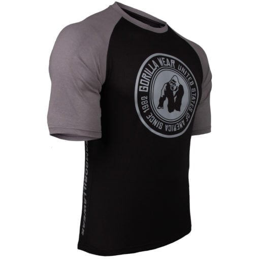 Bodybuilding Shirt Heren Zwart:Donkergrijs - Gorilla Wear Texas-2