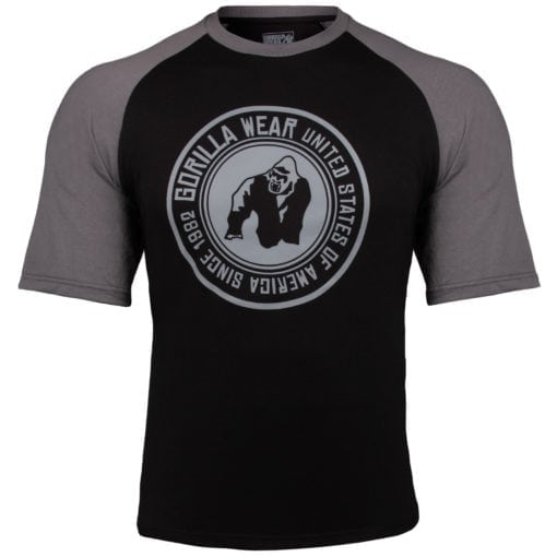 Bodybuilding Shirt Heren Zwart:Donkergrijs - Gorilla Wear Texas-3