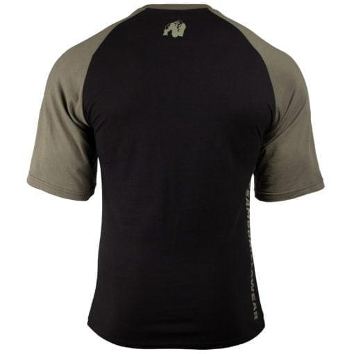 Bodybuilding Shirt Heren Zwart:Groen - Gorilla Wear Texas-2