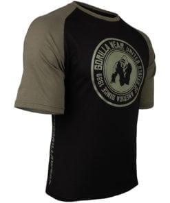 Bodybuilding Shirt Heren Zwart:Groen - Gorilla Wear Texas-3