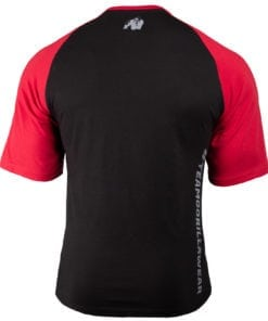 Bodybuilding Shirt Heren Zwart:Rood - Gorilla Wear Texas-2