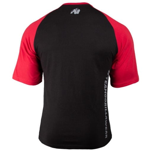 Bodybuilding Shirt Heren Zwart:Rood - Gorilla Wear Texas-2