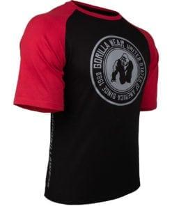 Bodybuilding Shirt Heren Zwart:Rood - Gorilla Wear Texas-3