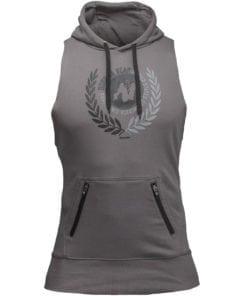 Bodybuilding Sleeveless Hoodie Grijs - Gorilla Wear Manti-1
