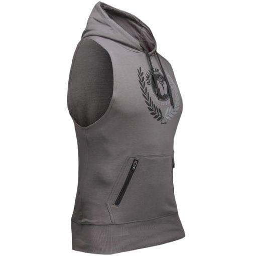 Bodybuilding Sleeveless Hoodie Grijs - Gorilla Wear Manti-2