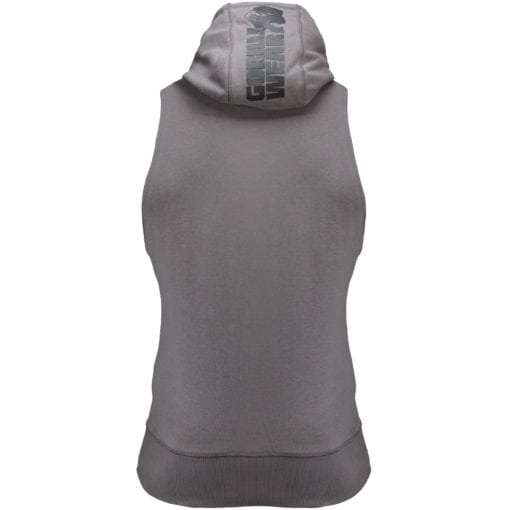Bodybuilding Sleeveless Hoodie Grijs - Gorilla Wear Manti-3