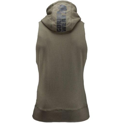Bodybuilding Sleeveless Hoodie Groen - Gorilla Wear Manti-1
