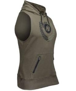 Bodybuilding Sleeveless Hoodie Groen - Gorilla Wear Manti-2