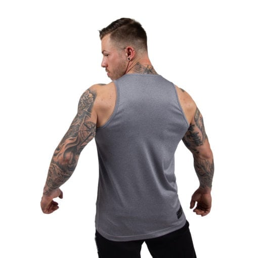Bodybuilding Tanktop Heren Grijs - Gorilla Wear Rockford-1