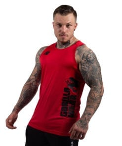 Bodybuilding Tanktop Heren Rood - Gorilla Wear Rockford-1
