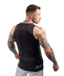 Bodybuilding Tanktop Heren Zwart - Gorilla Wear Rockford-1
