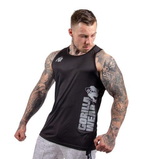Bodybuilding Tanktop Heren Zwart - Gorilla Wear Rockford-2