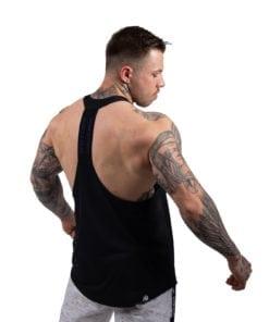 Bodybuilding Tanktop Heren Zwart:Blauw - Gorilla Wear Nashville-1