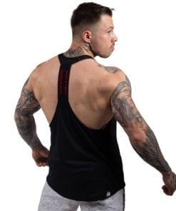 Bodybuilding Tanktop Heren Zwart:Rood - Gorilla Wear Nashville-1