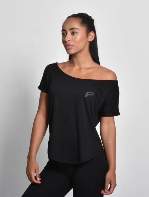 Sport Shirt Dames Flow Zwart - Pursue Fitness 1