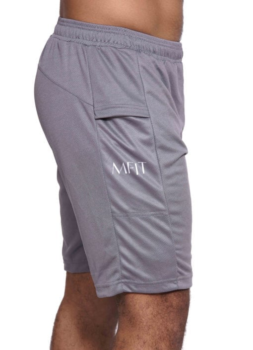 Sport Short Heren Basic Grijs - Mfit-3
