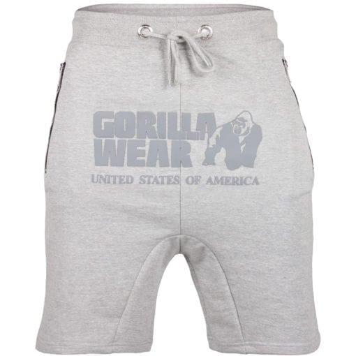 Sport Shorts Heren Grijs - Gorilla Wear Alabama Drop Crotch-1