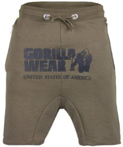 Sport Shorts Heren Groen - Gorilla Wear Alabama Drop Crotch-1