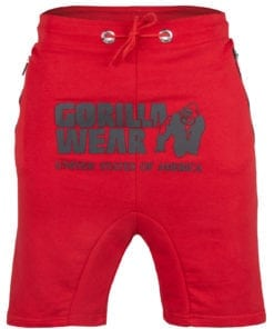 Sport Shorts Heren Rood - Gorilla Wear Alabama Drop Crotch-1