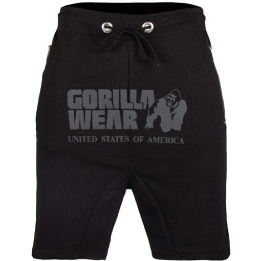 Sport Shorts Heren Zwart - Gorilla Wear Alabama Drop Crotch-1