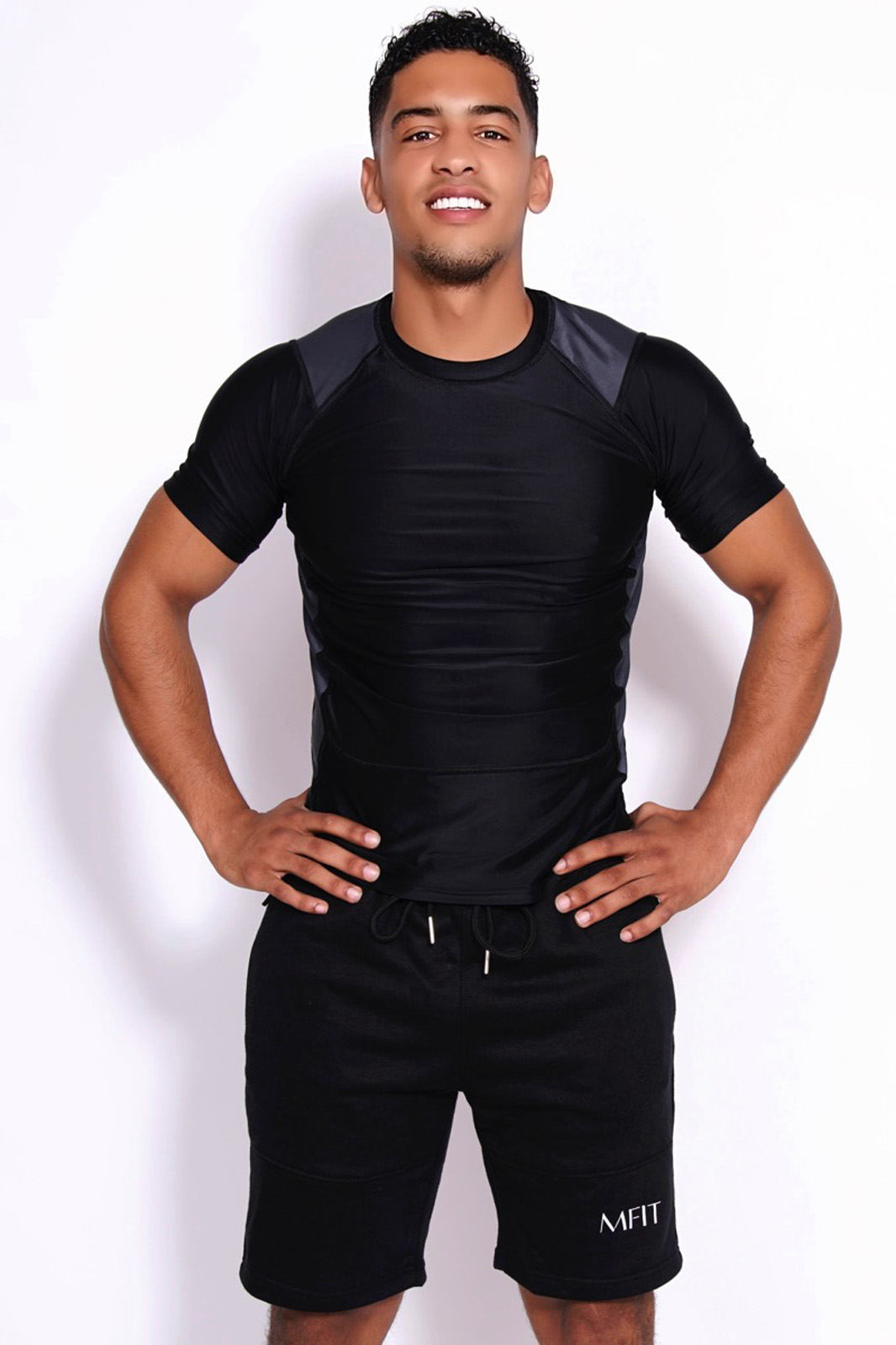 Sport T-shirt Heren Tightly Zwart - Mfit-1