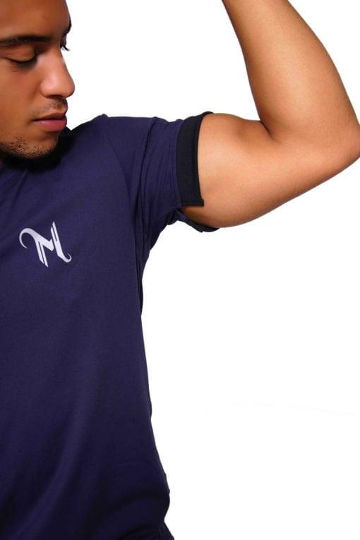 Sport T-shirt Heren V-neck Blauw - Mfit-2