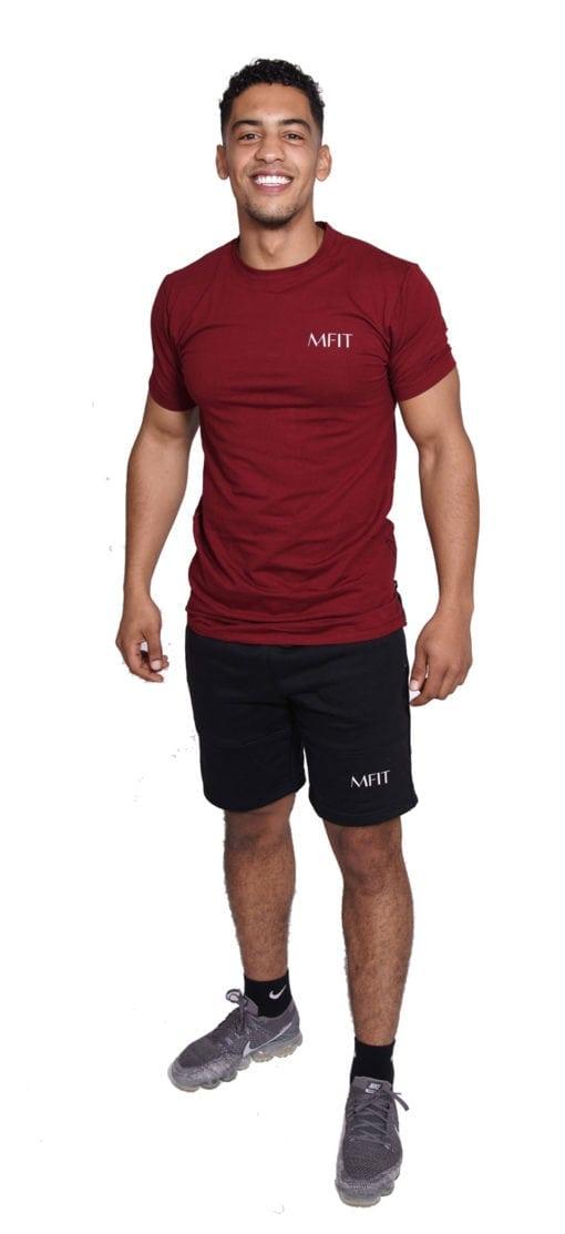Sport Zipper Heren Lang Rood - Mfit-1