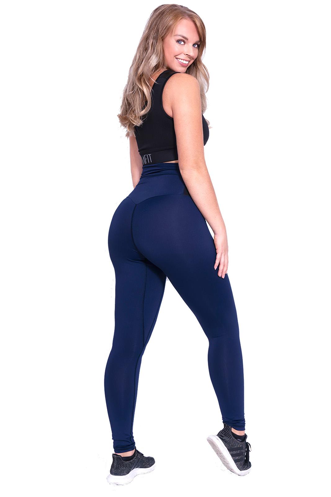 Sport legging Dames Blauw-Zwart - Mfit-2