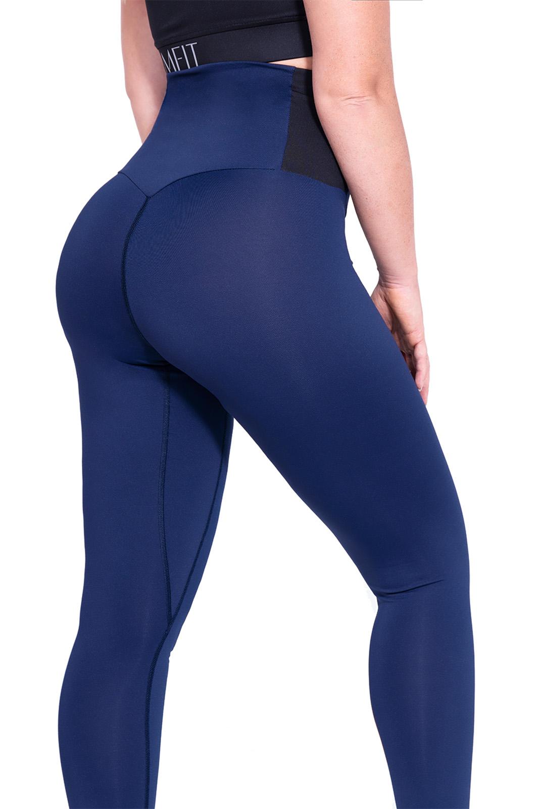 Sport legging Dames Blauw-Zwart - Mfit-3
