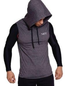 Sport sleeveless hoodie Heren Grijs - Mfit-1