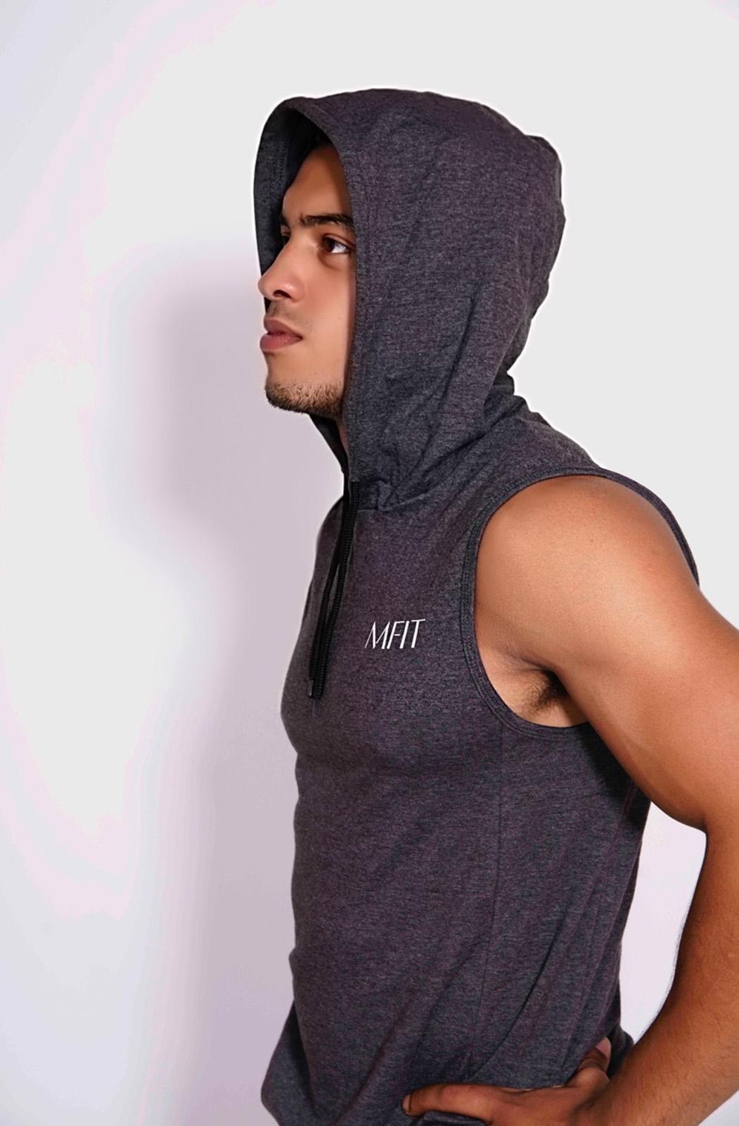 Sport sleeveless hoodie Heren Grijs - Mfit-2