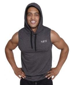 Sport sleeveless hoodie Heren Grijs - Mfit-4